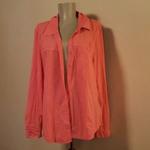 Maurices button down distressed blouse. Sz 2x